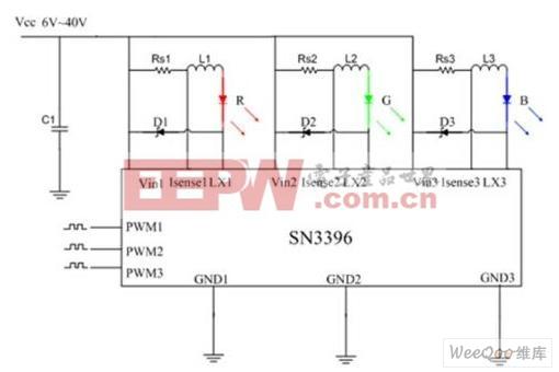 3W真彩色射灯单芯片LED驱动解决方案