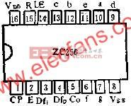 ZC256的管脚外引线排列及功用线路图  www.elecfans.com
