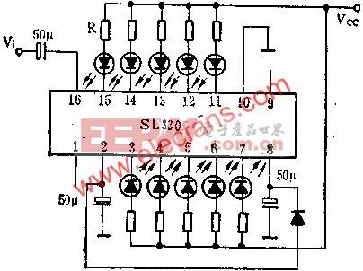 SL320双路五位LED电平显示驱动电路的应用  www.elecfans.com