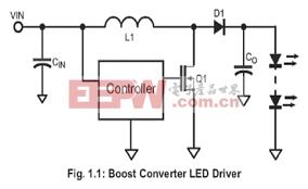 基于Supertex的以HV9911升压式高亮度LED背光驱动电路技术设计