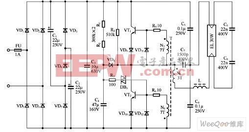 常用荧光灯电子镇流器电路与应用