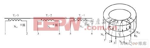 这个25w/cfl荧光灯电子镇流器电路中自激振荡驱动变压器的磁芯采用