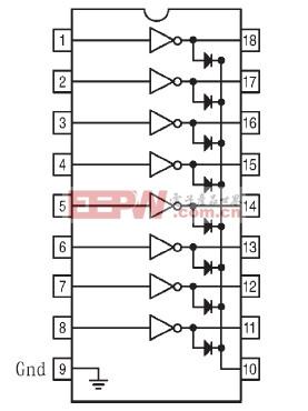 ULN2803管脚连接