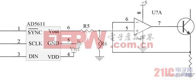 搭建的模拟调光电路