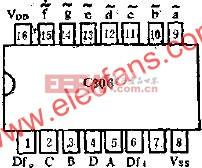 C306的管脚外引线排列和功用线路图  www.elecfans.com