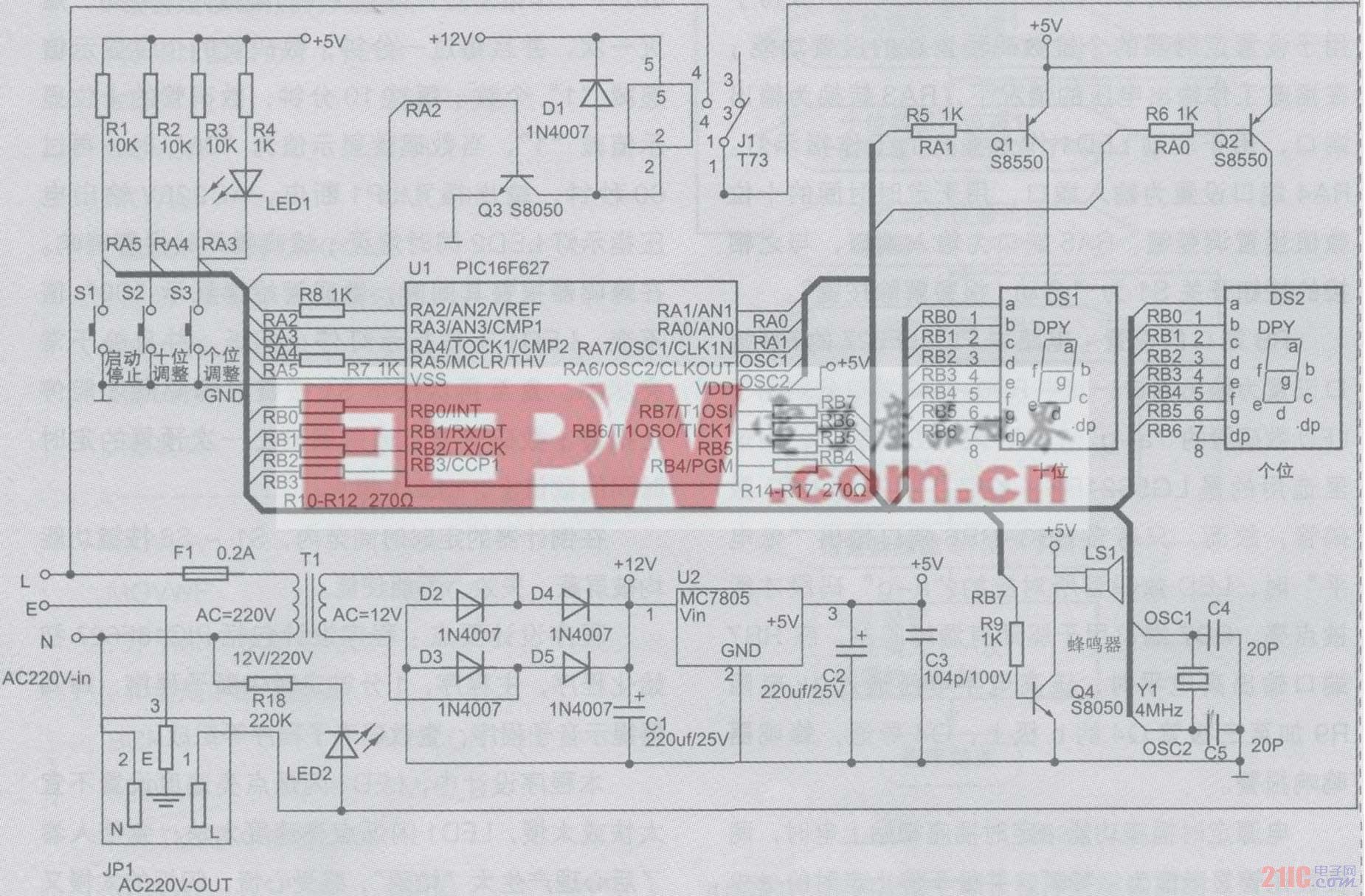 图1 电路硬件部分