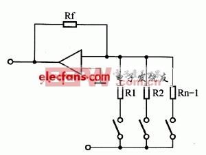 图3 权电阻型D/A转换器