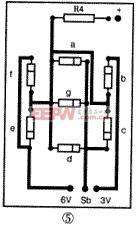 数显电路部分印刷电路板