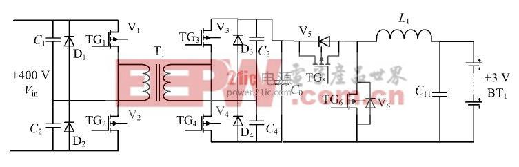 图1  两级双向DC/ DC 主电路图