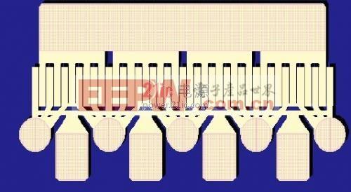 图1. T1G6001528-Q3 GaN 晶体管,采用1.25 毫米单位晶格