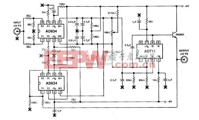 均方根-直流转换,电压控制放大器和视频开关