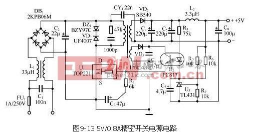 AC DC开关稳压电源应用电路图图片