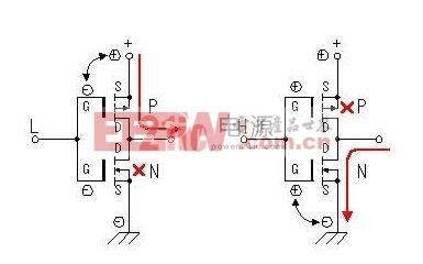 四种电路图画法-由以上分析我们可以画出原理图中MOS场效应管电路部分的工作过程