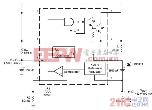 几种稳压器(TI)的典型应用之MC34063