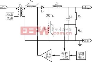 磁放大器的典型应用电路 开关电源