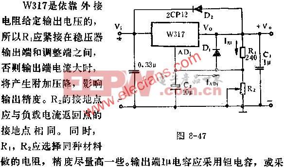 W317基本应用线路图  www.elecfans.com