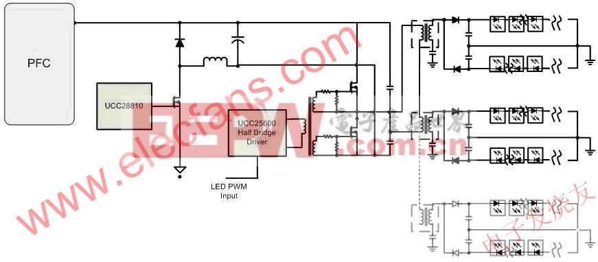 SIMPLE驱动多变压器 www.elecfans.com