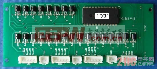单组电池电压温度采集板外观图