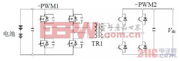 图2 双向双全控桥DC/DC 变换器。