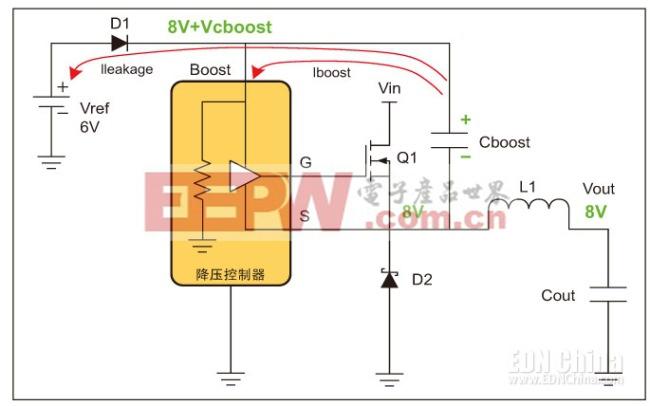 图3,升压电容放电。