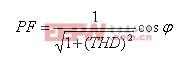 输入功率因数和谐波电流的关系