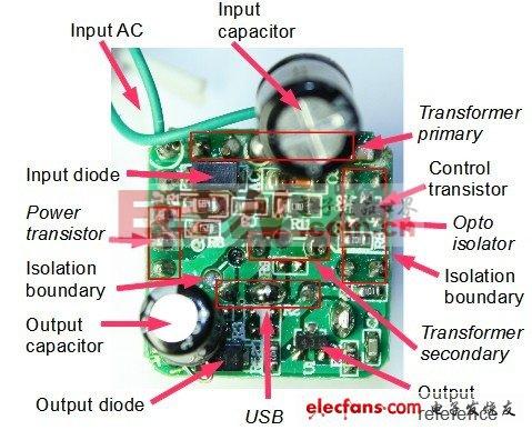 这个电源是一个自振荡反激变换器,通俗点说就是自激式转换器