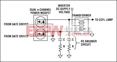Figure 2. Push-pull drain snubber circuit.