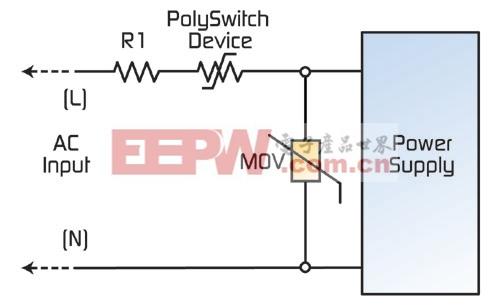 图3:开关模式电源的典型电路保护设计