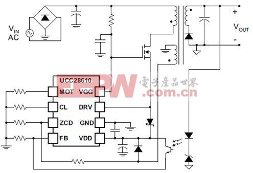 图2 级联与MOSFET连接 的控制器大大降低了启动电阻损耗