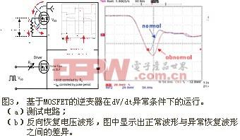 基于MOSFET的逆变器在dV/dt异常条件下的运行