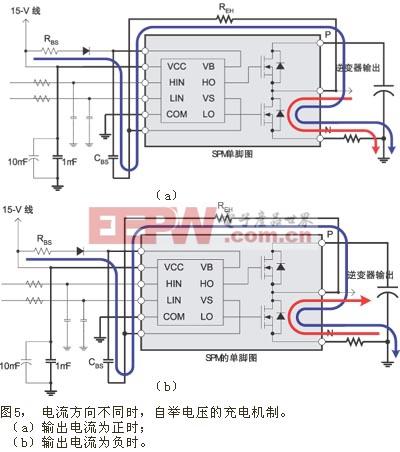 自举电压的充电机制