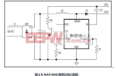 MAX16840典型应用示意图