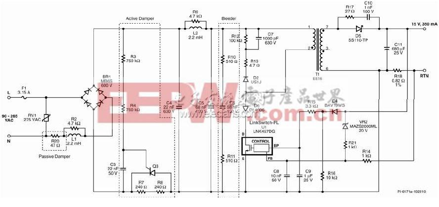 5WLED驱动电路原理图