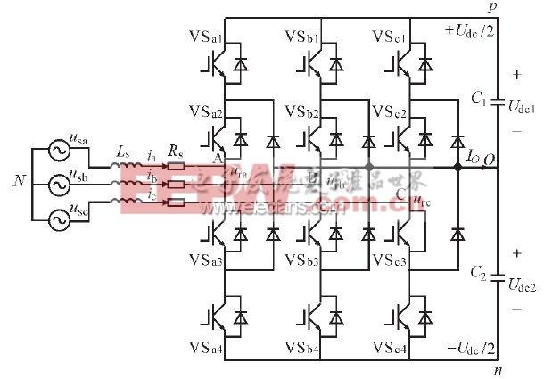 图1 三电平PWM整流器主电路拓扑结构