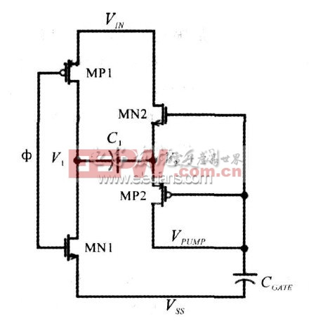 图2 自举电荷泵原理图