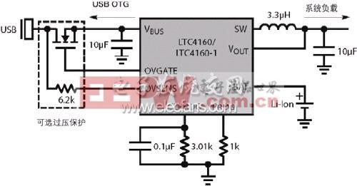 LTC4160的简化应用电路