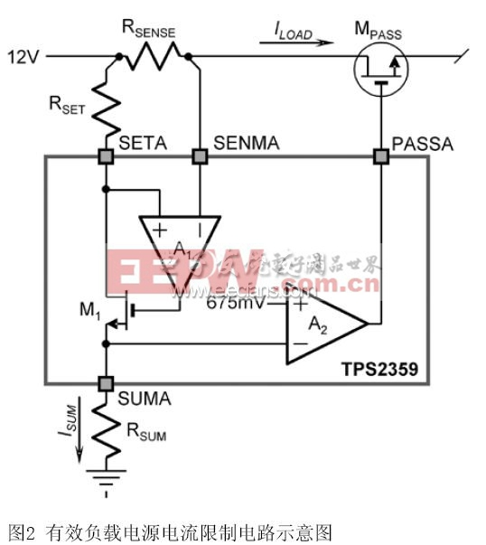电源电流限制电路