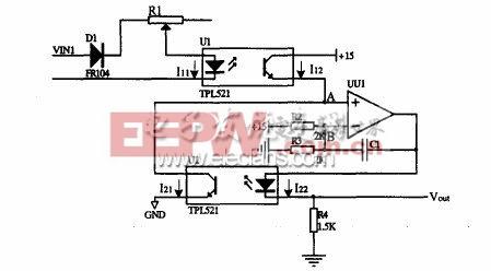 图3-1 单体电池电压采集电路