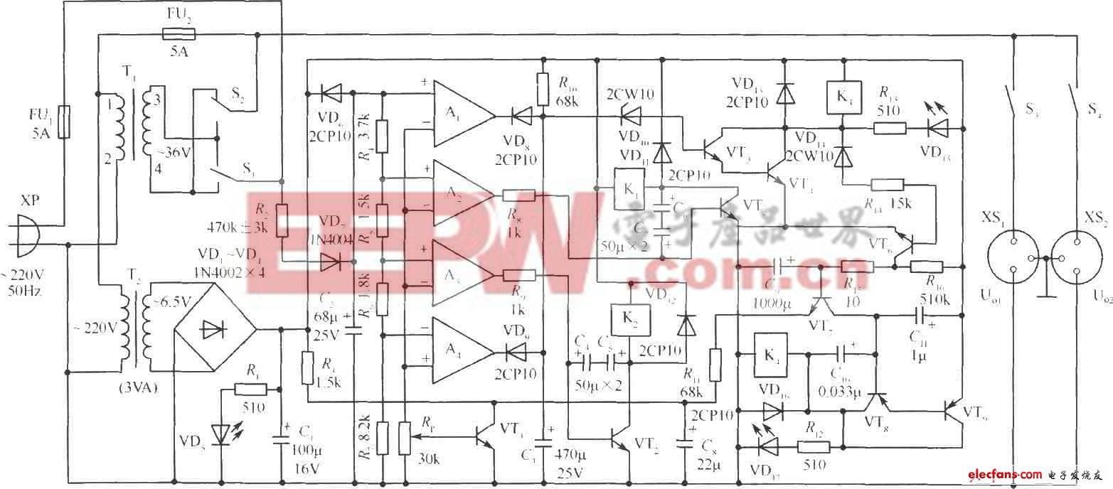 330W交流稳压电源电路设计图片