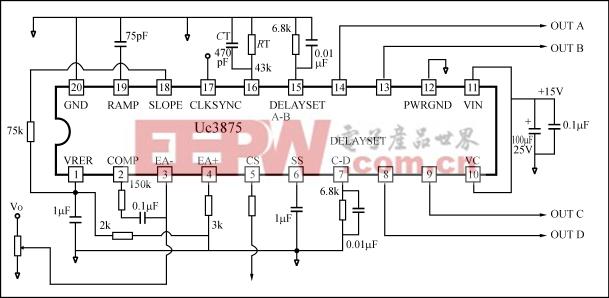 开关电源ic移相控制系统实际外围电路图