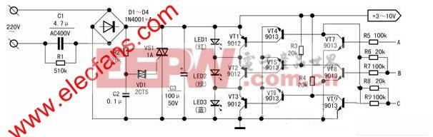 1W大功率发光二极管的实用驱动电源 www.elecfans.com