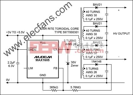 高电压供电功能的单芯片 www.elecfans.com