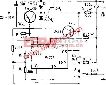 开关稳压器应用线路图  www.elecfans.com