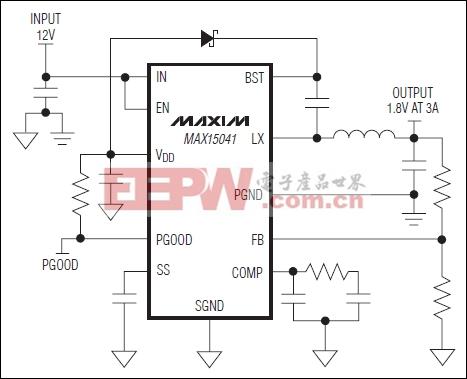 MAX15041:典型工作电路