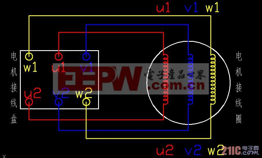 三相电机的接线图