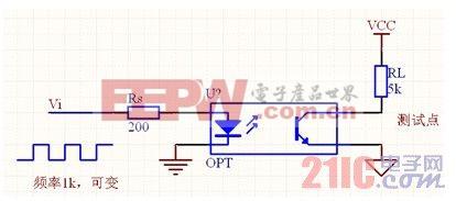 电路图如下图所示: 采用光耦作固体继电器具有体积小,耦合密切,驱动图片