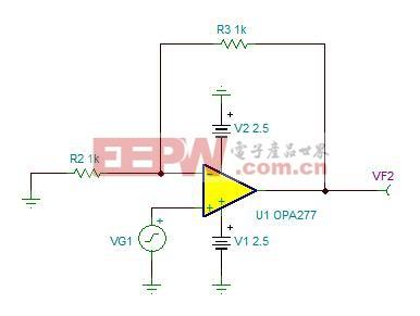 图 2.4:噪声分析电路示例
