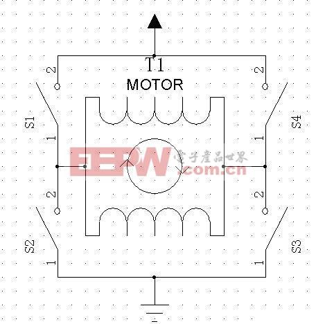 图1 H 桥驱动原理电路图 2.2 开关器件的选择及H 桥电路设计 常用的电子开关器件有继电器, 三极管, MOS 管, IGBT 等。 普通继电器属机械器件, 开关次数有限, 开关速度比较慢。 而且继电器内部为感性负载, 对电路的干扰比较大。 但继电器可以把控制部分与被控制部分分开, 实现由小信号控制大信号, 高压控制中经常会用到继电器。 三极管属于电流驱动型器件, 设基极电流为IB, 集电极电流为IC, 三极管的放大系数为β, 如果, IB*β>=IC, 则三极管处于饱和状