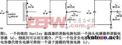 图1是Hartley振荡器的等效调谐电路