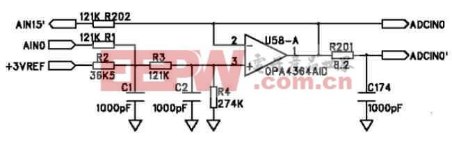 图2 模拟量信号调理电路